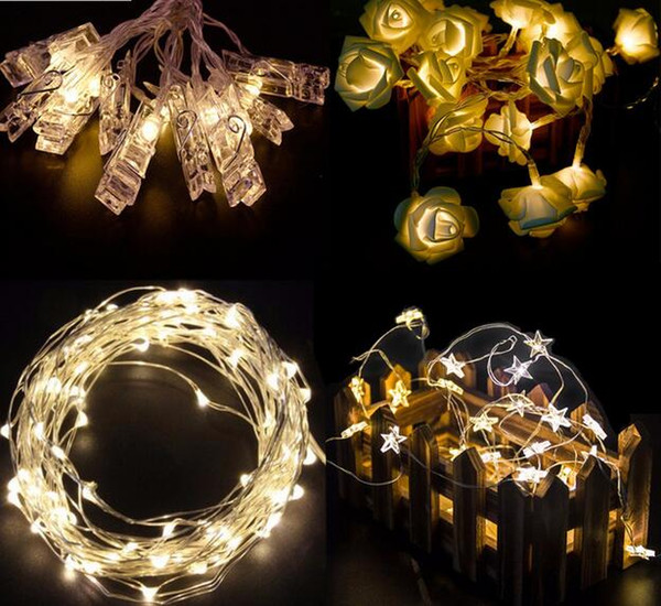 LED Lights Wedding Decoration Light Copper Wire String Fairy Light Birthday Party Decoration New Year Event Supplies
