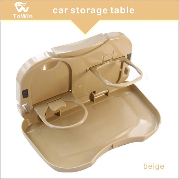 Wholesale,Vehicle Multi-function Foldable Tray Back Seat Table Drink Food Cup Holder Travel Dining Tray Organzier