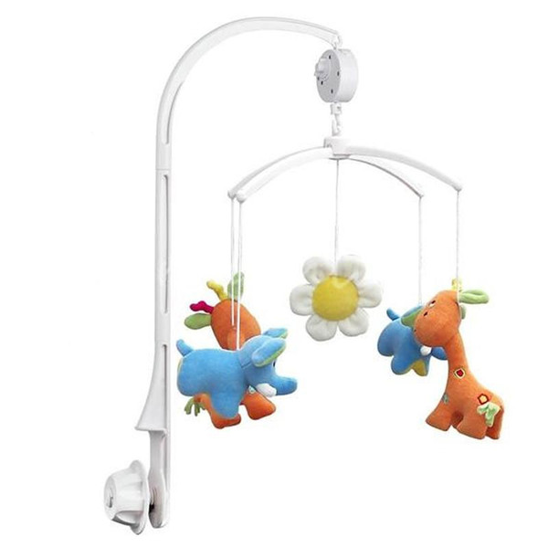 5Pcs Baby Crib Holder Baby Rattles Plastic Plush Hanging Crib Mobile Bed Bell Toy Holder 360 Degree Rotate Arm Bracket
