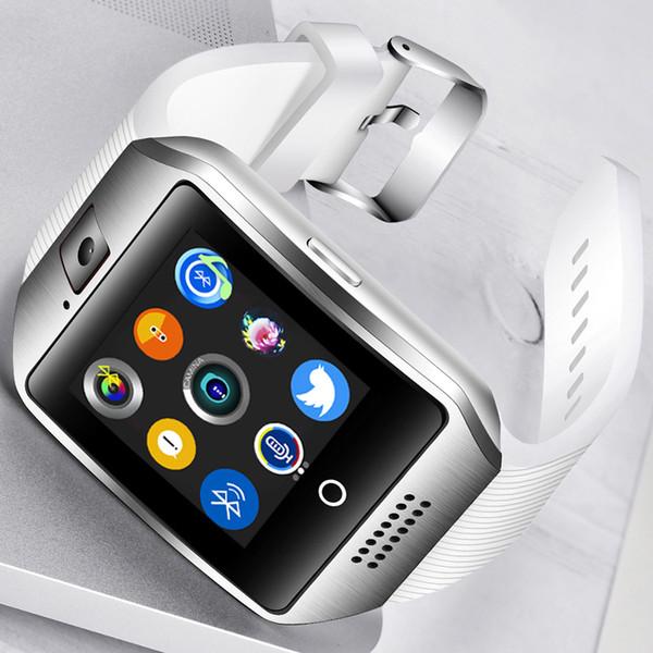 2018 New Smart Watch Smart Watch da uomo Bluetooth Connessione Sport Musica Riproduzione Schermo a colori Supporto TI Sim