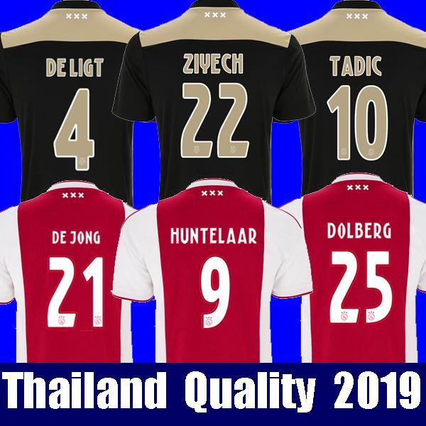 22f6315f1 Top thailand 2018 2019 AJAX FC soccer jersey DOLBERG HUNTELAAR ZIYECH TADIC  BLIND CRUYFF jerseys 18 19 football kit shirt Netherland voetbal