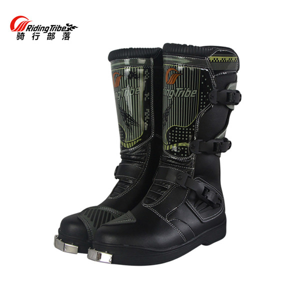 Professionelle Kniehohe Motorrad Scooter Racing Stiefel Motocross Speed Stiefel Moto Botas Off Road Stiefel / Schuhe