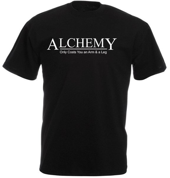 2017 Cotton T Shirts Clothing Short Graphic Alchemy, It Costs You An Arm & Leg, Full Metal Alchemist O-Neck Tees For Men