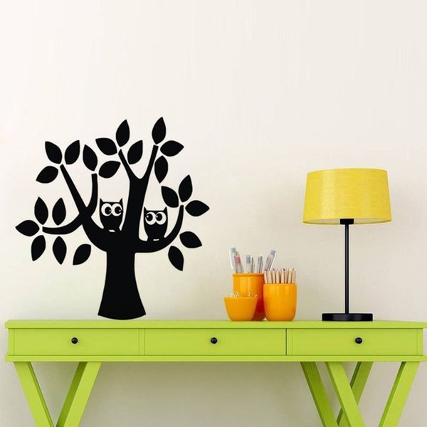 Owls And Tree Wall Stickers For Children Rooms Plants Mural On The Wall Decoration Vinyl Art Decals