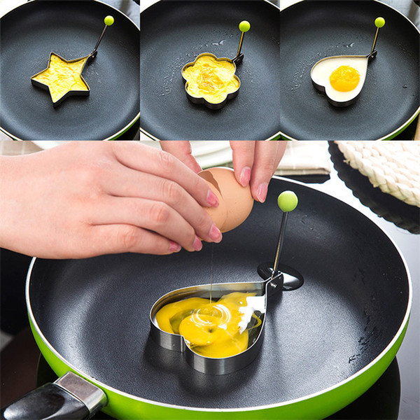 DHL NEW Stainless Steel Fried Egg Mould Mold Shaper Pancake Mould Mold Kitchen Fried Egg Cooking Tools