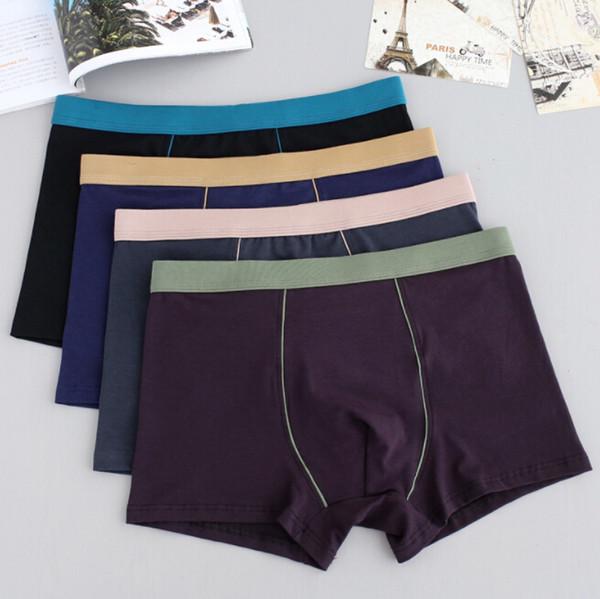 Underwants Mens Underwear Calças Moda Boxers Contraste Cor Algodão Respirável Boxers Underwear Cuecas Masculinas Plus Size XL-9XL