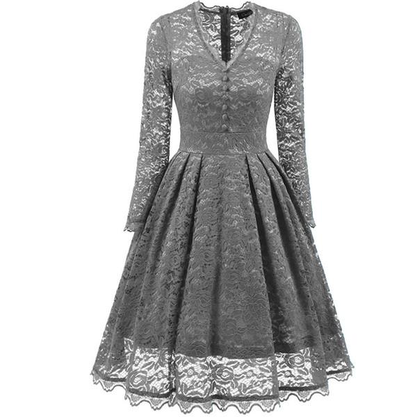 Compre Vestido Vintage De Las Mujeres De La Década De 1970 De Los Años 80 Vestido Largo Delgado De Cintura Alta Una Línea De Mangas Largas De Otoño