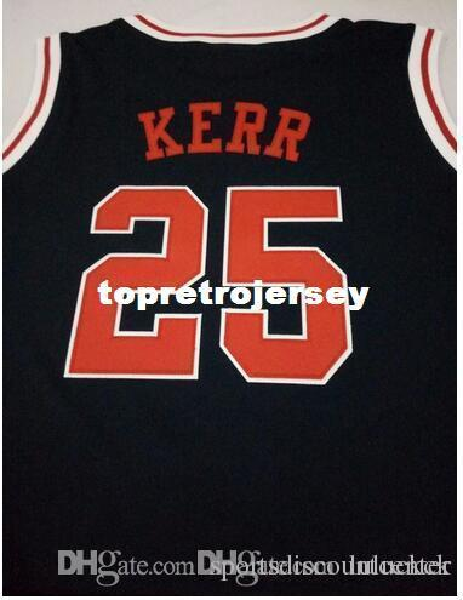 A+ Free Shipping High Quality Cheap custom Men's Hot sale # 25 Steve Kerr jerseys Basketball Jerseys high quality embroidery Jerseys