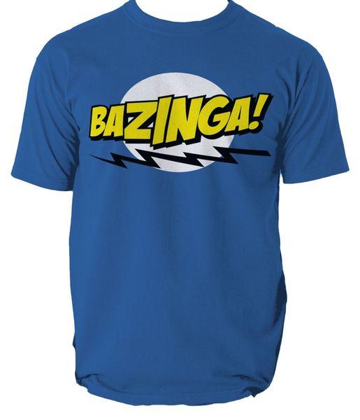Bazinga T-Shirt Mens The Big Bang Theory Sheldon Cooper Periodic Table S-3XL Funny free shipping Unisex Casual gift