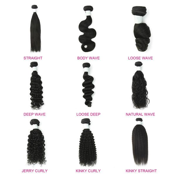 LIN MAN Hair 3 Bundles 8-30 Zoll brasilianisches Menschenhaar Bundles lose Welle verworrene gerade tiefe lockige Körperwelle gerade natürliche Farbe