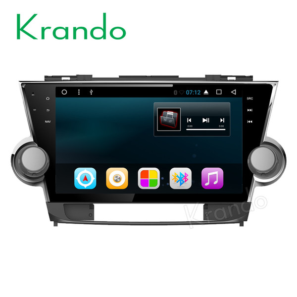 "Krando Android 7.1 10.1"" car dvd radio navigation gps for toyota highlander 2008-2014 audio entertainment multimedia system DAB+"