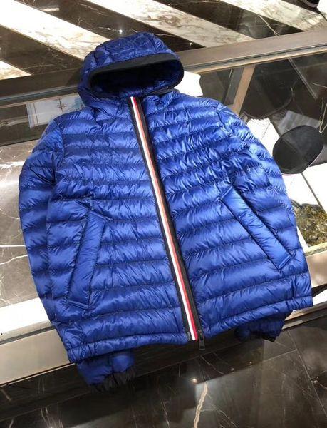 Cappotto invernale da uomo Casual Piumino sottile Giubbotto in vera pelle con cappuccio Hommes Manteau Very Good Best Quality 785