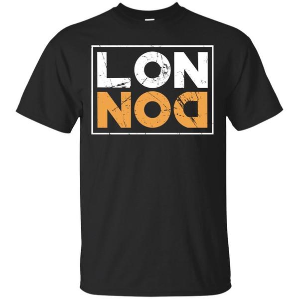 London in vintage Retro Black Navy Short Sleeve Shirts For Men Design S-3XL summer Hot Sale New Tee Print Men T-Shirt Top 100% cotton