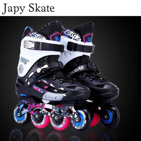 Japy Skate Original Cougar MZS509 Slalom En Ligne Patins À Rouleaux Chaussures De Patinage Slalom Coulissant Chaussures De Patinage Gratuit Patines Adultes