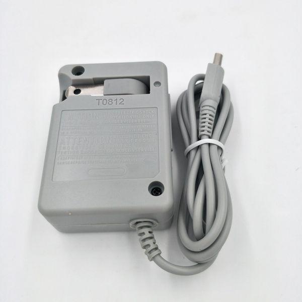Cavo a spina per cavo adattatore per caricabatteria da parete CA AC US per Nintendo DSi XL 3DS Generico NDSi 100PCS / LOT