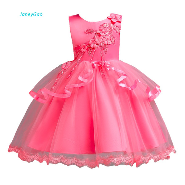 wholesale Flower Girl Dresses For Wedding Party Elegant Little Girl Formal Gown 2018 New Fashion Cute Girl First Communion Dress