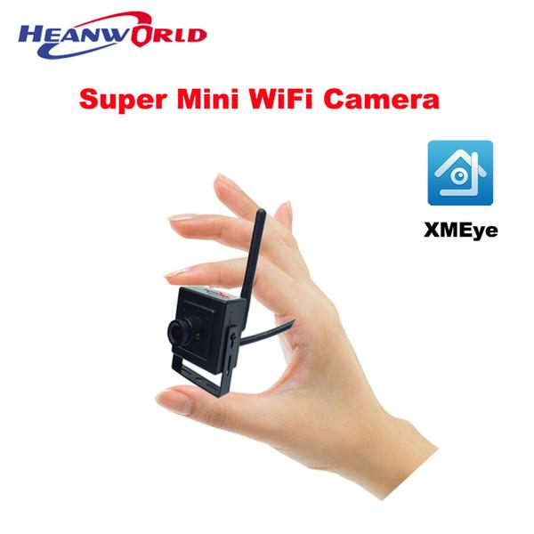 En Küçük WiFi Kamera HD 720 P Ev Güvenlik IP Kamera Kablosuz Akıllı Görünüm Cep Telefonu APP E-posta Alarmı ile Micro SD