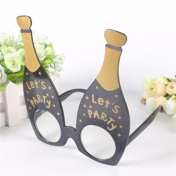 Funny Party Costumes Sunglasses Glitter Event Supplies Decoration Decorative Flamingo Big Chest Wine Bottle Pineapple Beach
