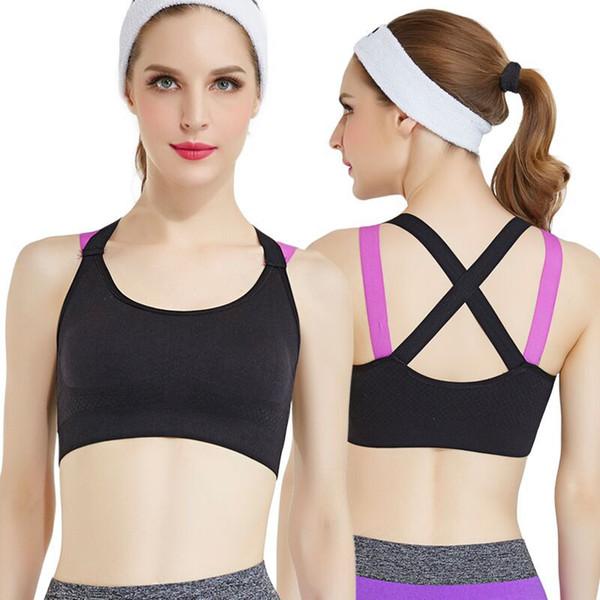 Women Running Yoga Bra Push Up Sport Bra Top Athletic Vest Yoga Top Padded Brassiere Sport Top Soutien Gorge