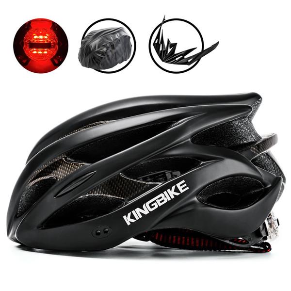 KINGBIKE Fahrradhelm Rennradhelm Ultralight Mountain MTB CE Sicherheit PVC + EPS Fahrräder Mit Lichthelme