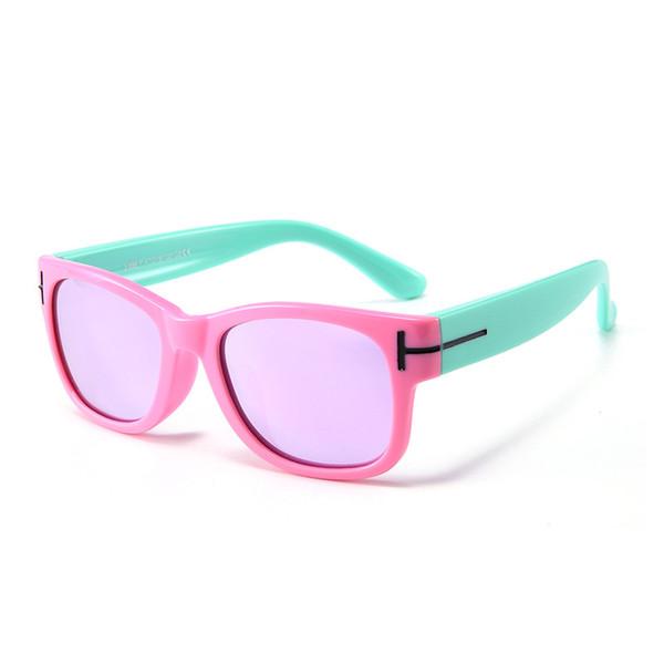 c805d9691 Moda infantil polarização óculos de sol de silicone, colorido menino e  menina Tong Baobao protetor