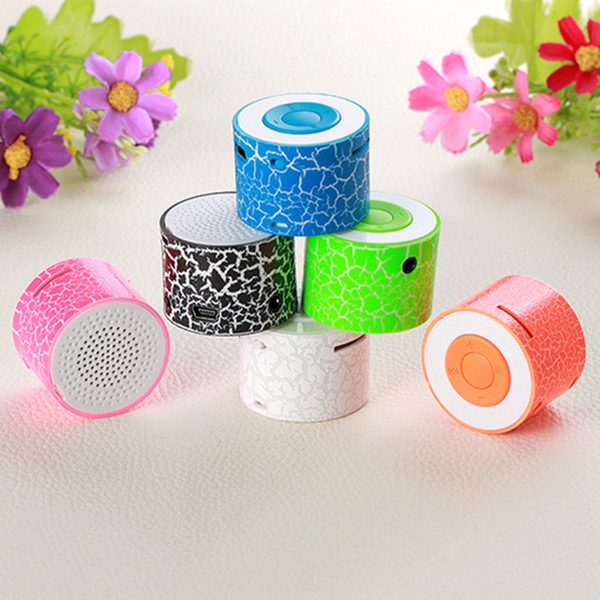 Hot Sale Mini MP3 Player Cool Crack Pattern Design Support TF Card Rechargeable Music Player Speaker Children Gift No Bluetooth