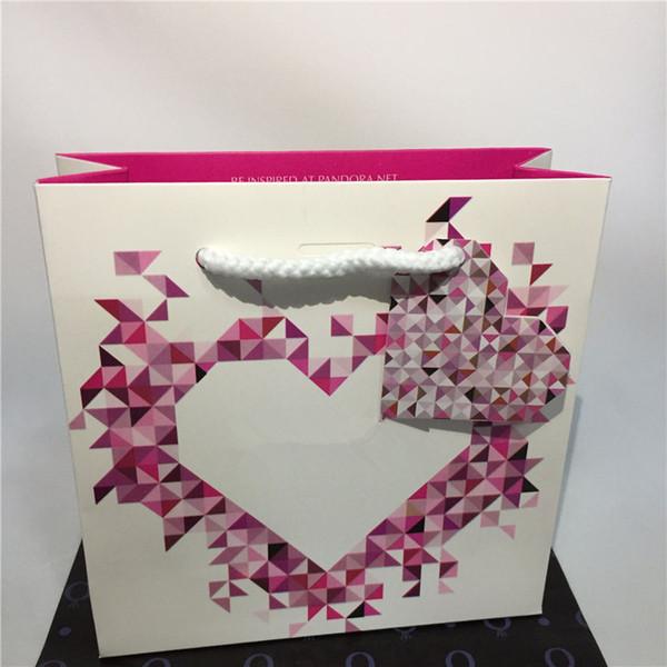 Mix Tamam Paketi Karton Kağıt Poşet mi Pandora Halka Küpe Charm Boncuk Dangle Moda Takı için 10 Stiller Kişisel Ürün Fiyat ekle