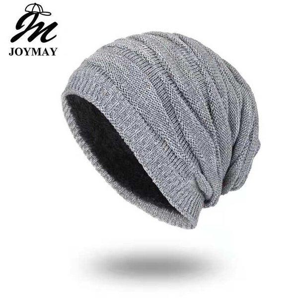 Joymay Brand 2018 Winter Beanies For Men Women Solid Color Hat Man Plain  Warm Soft Skull Knitting Cap Touca Gorro Hats Vogue Knit Beanie Fitted Caps