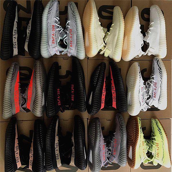 2018 New 350 V2 Boost Beluga 2.0 Mesh Blade V3 Sply 350 V2 Cp9366 Cp9654 Zebra Cp9652 Breds Running Shoes Sneaker