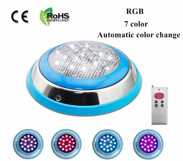 LED piscina IP68 AC12V Telecomando 7 colori RGB 18w 25w 35w 45w led illuminazione subacquea stagno led piscina