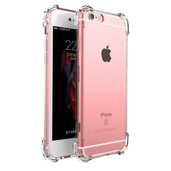 D'origine Clair Or Antichoc 360 Silicone TPU Transparent Cas de Téléphone Fundas Coque Pour iphone 7 7 Plus 6 S 6 S 6 Plus 6 8 PLUS PLUS 5 S