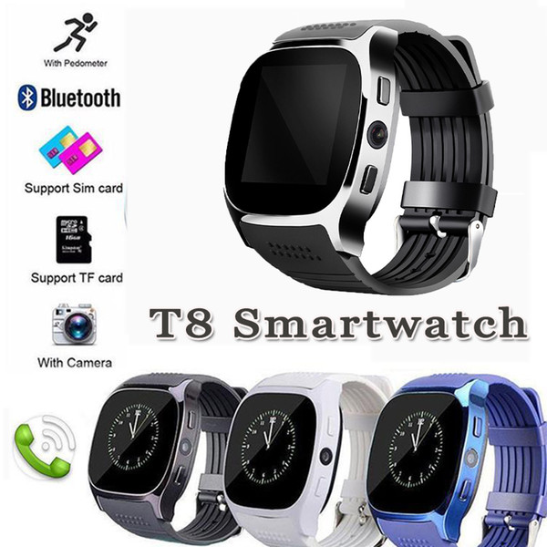 T8 Bluetooth Smart Watch Support SIM and TFcard Camera Sync Call Message Men Women Smartwatch For Android iPhone