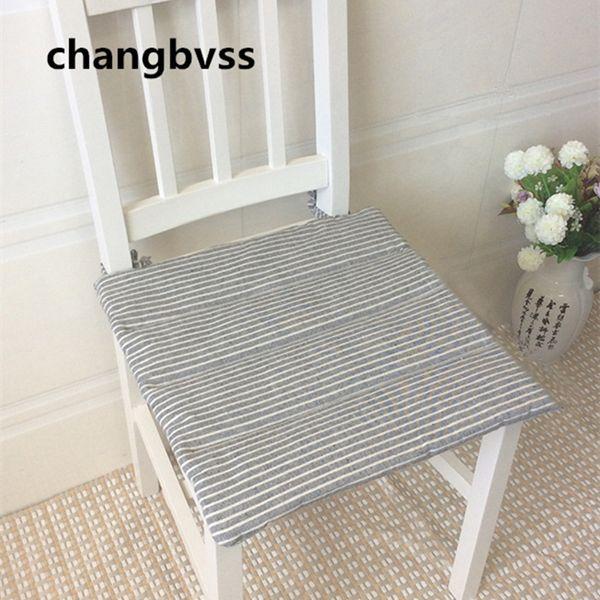 Hotsale Striped Cotton Linen Dining Chair Cushion Health Soft Seat Cushion Home Decor Kitchen Chair Cushion almofadas coussin