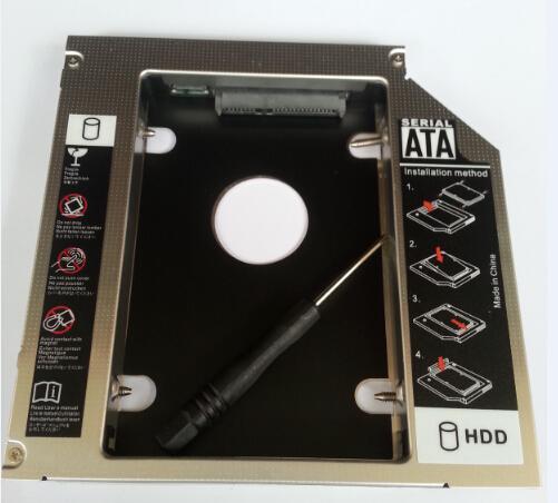 Toptan Satış - 12.7mm Evrensel 2. HDD Caddy sabit disk sürücüsü SATA ile SATA konektörü HDD Caddy Adaptör Bay 2.5