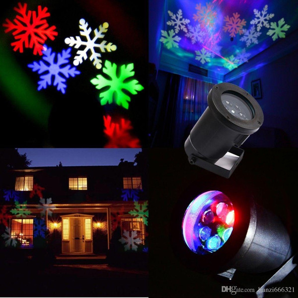 Heiße neue bewegliche LED RGB Mehrfarbenschneeflocken-Wand-Landschaftslaser-Projektor-Lampe beleuchtet weißen Schnee-funkelnde Landschaftsprojektor-Lichter