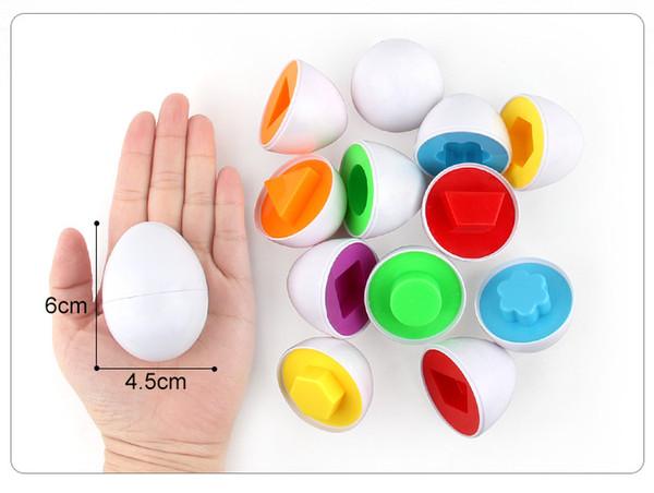 6Pcs//Lot Pairing Puzzle Egg Toys Kid Children Toddler Fun Learn Educational Toys