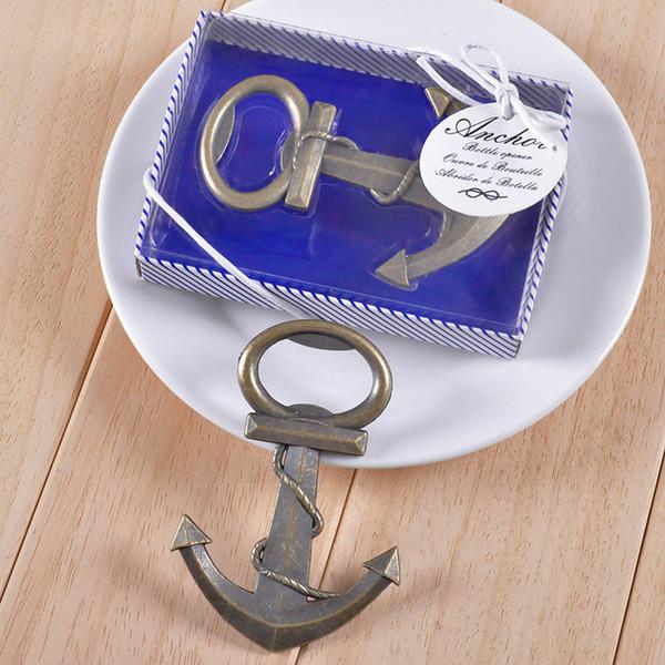 Freie Verschiffen Weinlese-antike Art-Seeschiffs-Boots-Anker-Bier-Flaschenöffner-Hochzeit bevorzugt Geschenke 50pcs
