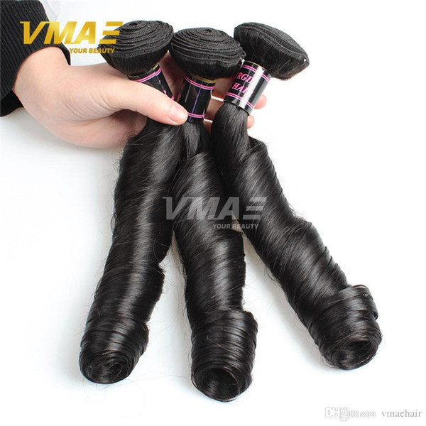 3Pcs/lot Funmi Spring Curly Hair Cheap Human Hair Weaves Bundles Romance Brazilian Virgin Bouncy Curly Hair Extensions