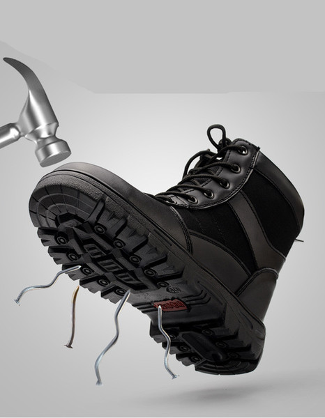 Yeni kış emek sigorta ayakkabı erkekler yüksek takım çelik ayak caps anti-smashing delinme kaynak sitesi güvenlik ayakkabıları soğuk sıcak çizmeler