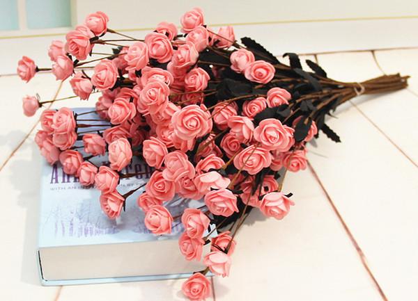 Compre Flores Artificiales Flores Color De Rosa Flores De Seda