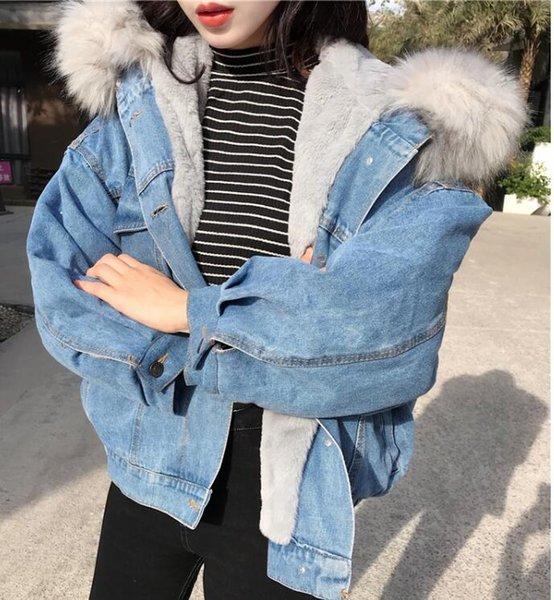 Gray Fur Collar