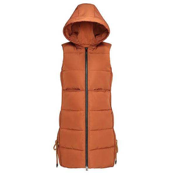 Kuyomen النساء الشتاء سترة صدرية نيس تصميم الأزياء طويلة سترة الإناث القطن الدافئة أكمام سترات معطف المرأة