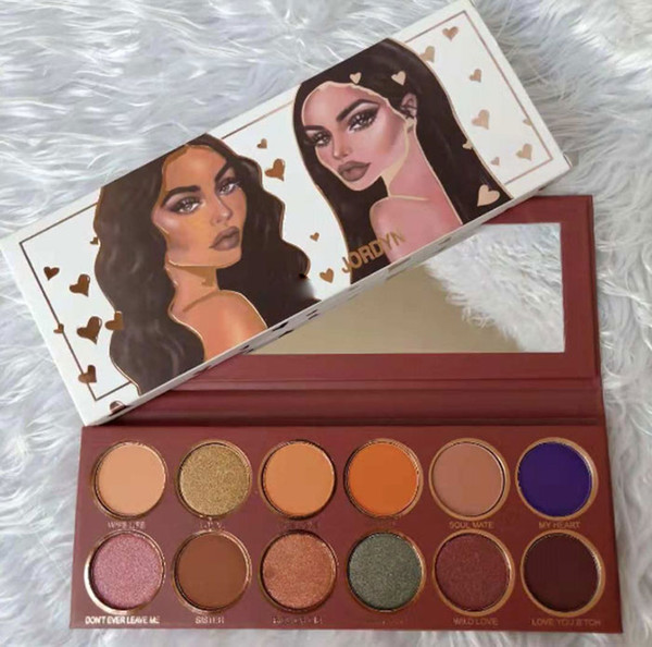 best selling maquillage JORDYN eye shadow palette Jordyn eyeshadow palettes 12 colors pressed powder palette shipping free via DHL