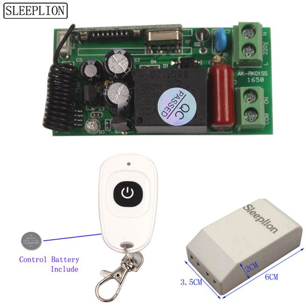 Sleeplion Universal Wireless Light Switch 220V Relay Receiver Module 2 Remote Controls 110V Switch 315/433MHz