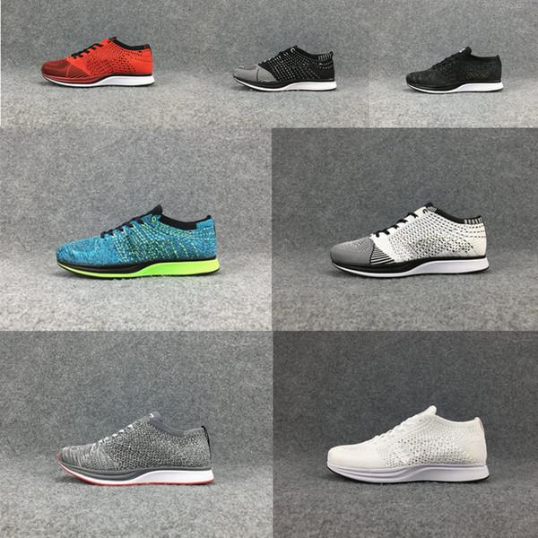 MännerQualität Balck Für Art Und Tranier 2018 Großhandel 2018 RACER Sportschuhe Nike Racer Laufende Schuhe Frauen Flyknit Free Weise Breathable Run shrtCdQ