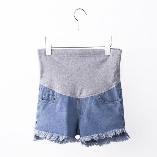 af2de382b4b7 Летние шорты материнства для беременных женщин кисточкой джинсы модные  брюки беременность шорты одежда для беременных брюки