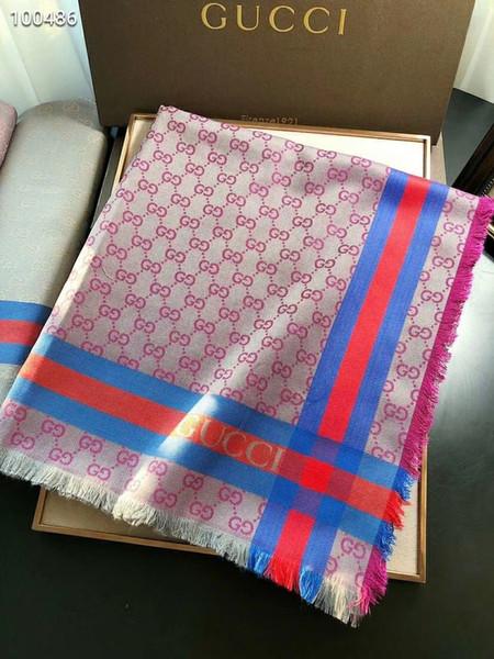 Yeni marka kaşmir şal, renkli jakarlı desen, lüks tasarımcı eşarp, high-end elbise üçgen şal, 140cm * 140cm
