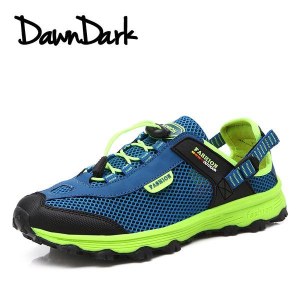 Men Hiking Shoes Summer Outdoor Sports Camping Shoes for Men Tactical Hiking Shoes Mesh Breathable Trekking Sneakers