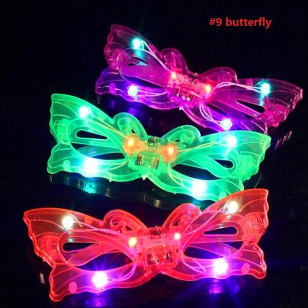 Женщина мужчина мальчик девочка мигает LED слепой глаз очки загораются мигающие очки маска для глаз Glow Party Supplies свадебные украшения