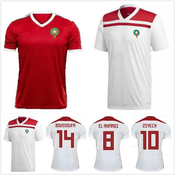 buy cheap 03ad4 23ce1 2019 2018 World Cup Morocco BENATIA Soccer Jerseys Maroc National Team Home  Away Third Football Uniform ZIYACH BOUTAIB BOUSSOUFA Football Shirt From ...